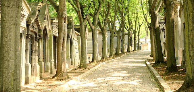 Pere-Lachaise Graveyard where many celebrities are buried