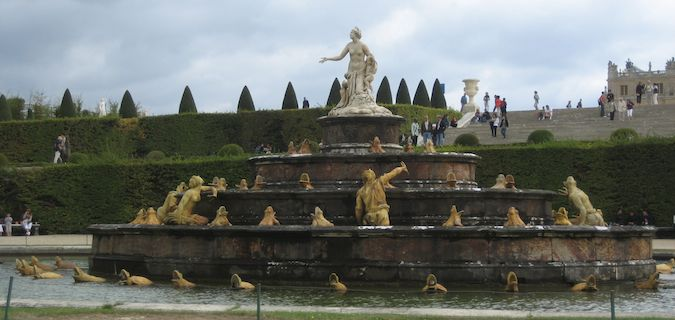 The Palace of Versailles fountain in Paris