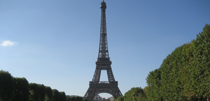 the famous Eiffel Tower in Paris