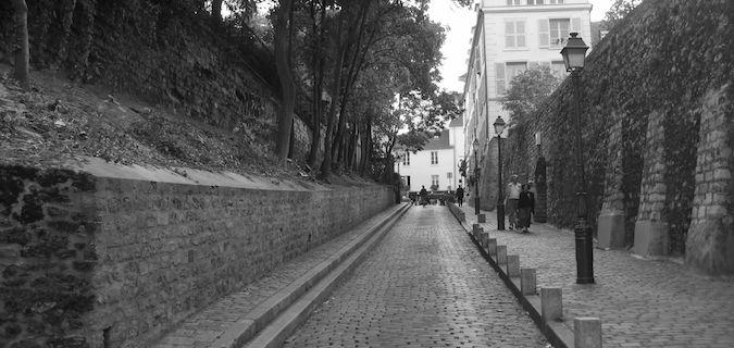 the famous Montemartre area of Paris
