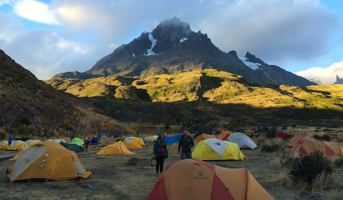 Our campsite at Refugio Paine Grande
