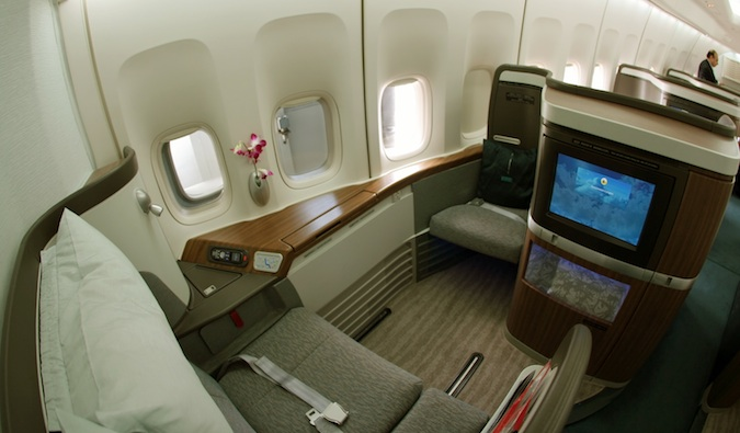 business class on A380
