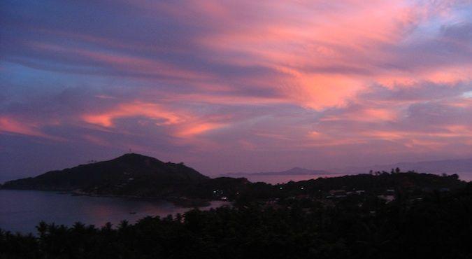 Ko Pha Ngan full moon sunset