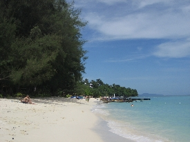 Phi Phi's best beach during low season- a bit less crowded
