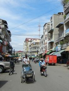 The streets of Phnom Penh, Cambodia