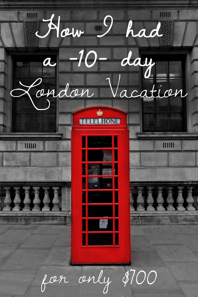 Vacationing in London, England with Big Ben on the cheap