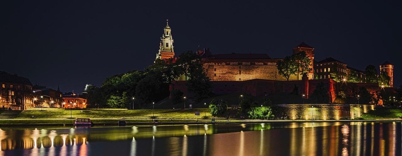 Poland at night