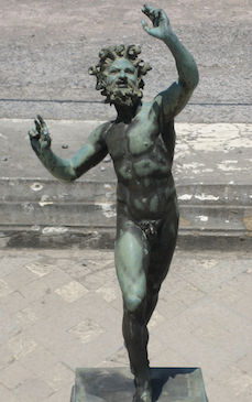 The statue of the faun in Pompeii