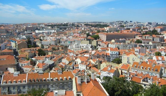 sweeping view of Lisbon, portugal