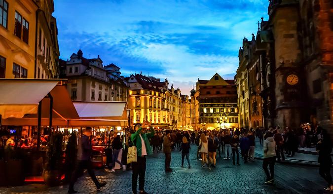 Partying in Prague