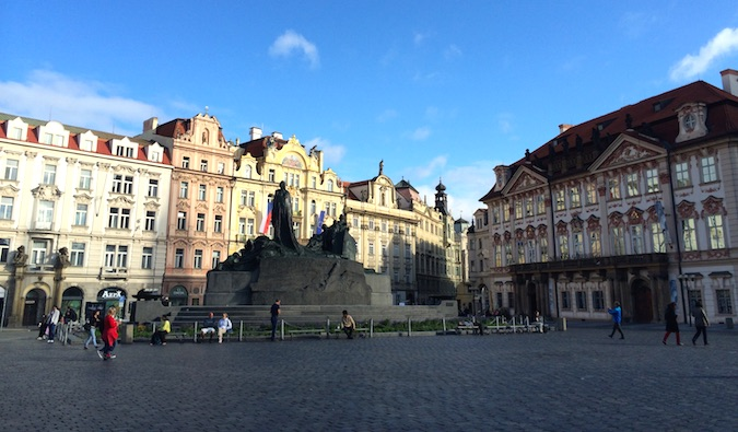 Prague town square in Czech republic