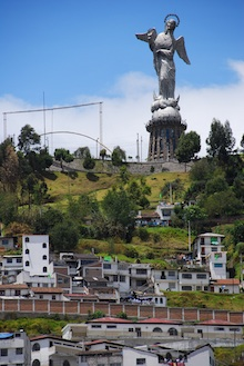 View of statue in Quito