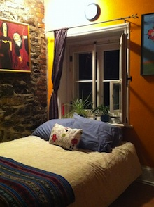a rented apartment