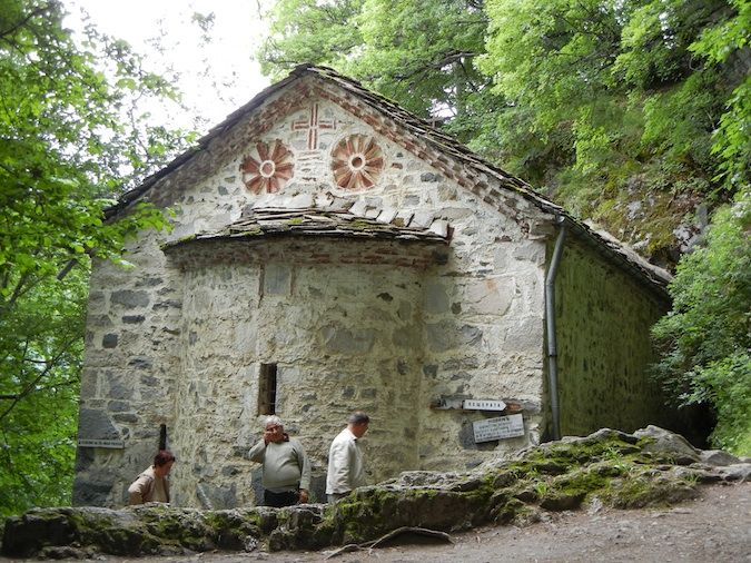 The church of St. Ivan, who lived in the cave next door to Rila Monastery