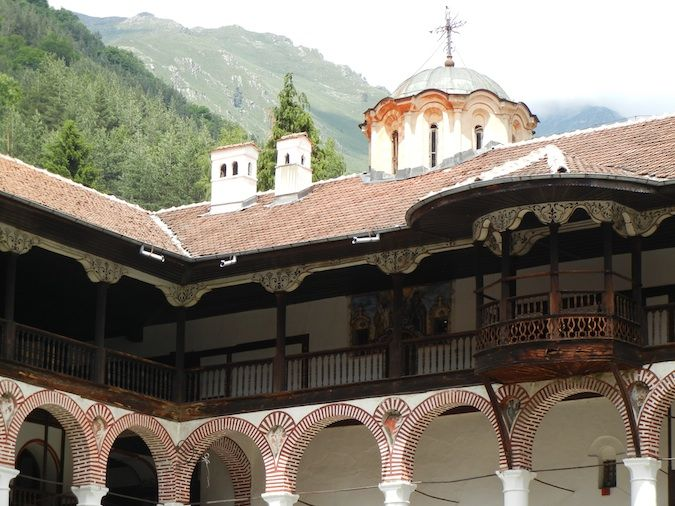The Rila Monastery and the mountains