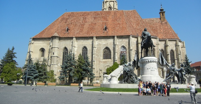 tour group in cluj, romania