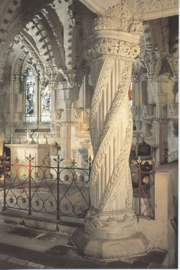 Rosslyn Chapel column
