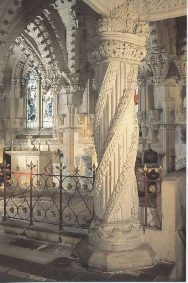 Rosslyn Chapel column