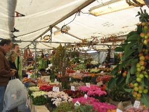 The outdoor market in Rotterdam where you can buy fruit and veggies