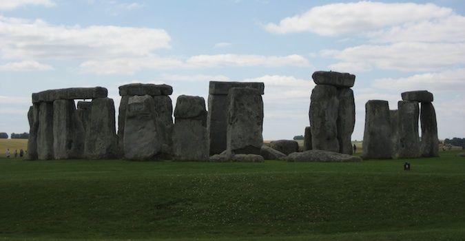 The Stonehenge ruins in Salisbury, England