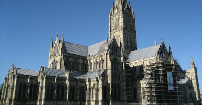 Salisbury Cathedral is very famous in England