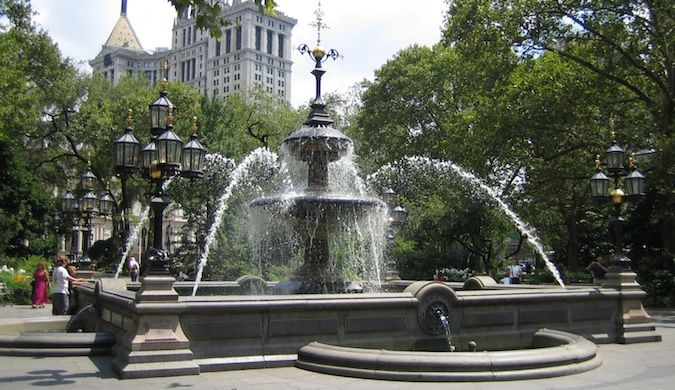 New York city fountain