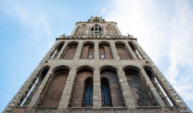 View from the bottom of the church in Utrecht