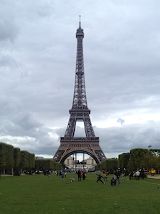 The Eiffel Tower on a summer day in Paris, France