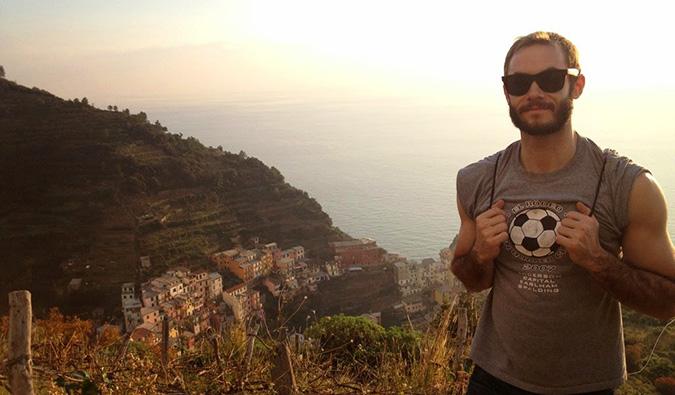 Scott in the Cinque Terre