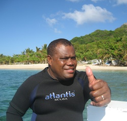 Scuba diving instructor giving a thumbs up
