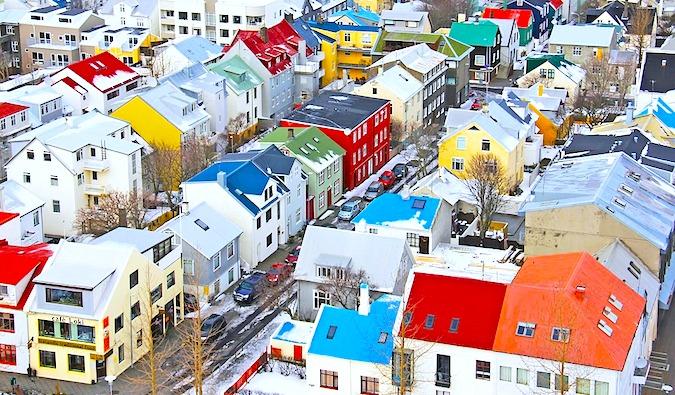 View of Reykjavík Iceland