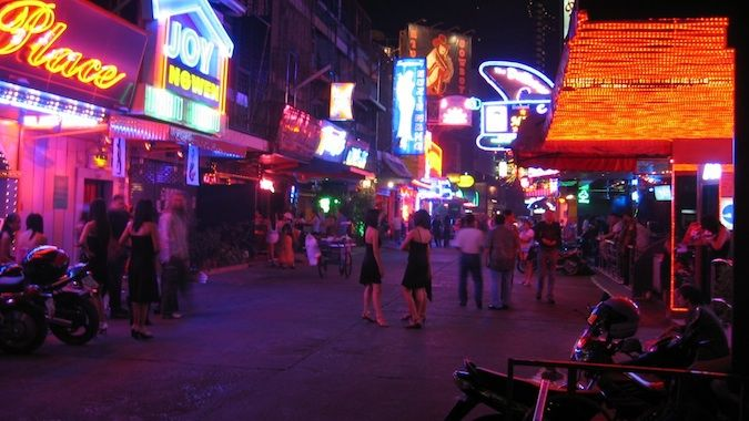 one of the many sex districts in Thailand