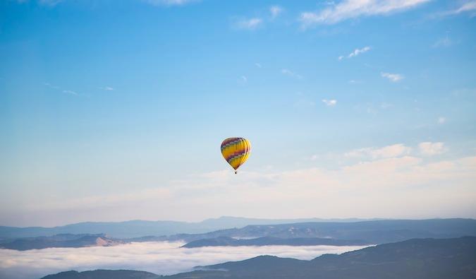 a wanderlust-inducing hot air balloon