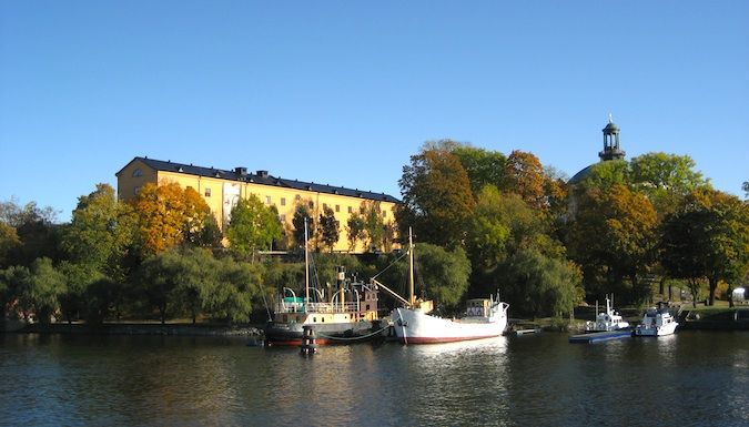 Museum island in Stockholm