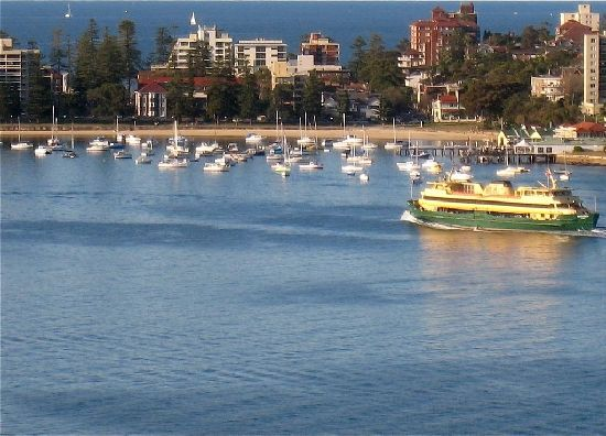 The ferry to Manly Beach is free