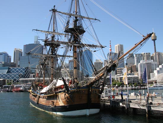The boat at the National Maritime Museum in Darling Harbor is a free thing to do in Australia