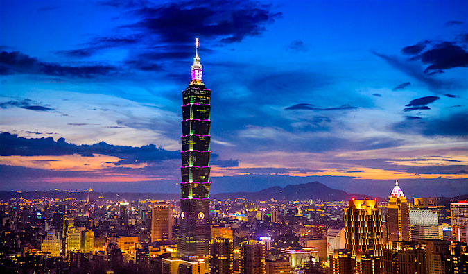 Taipei 101 Taiwan at twilight