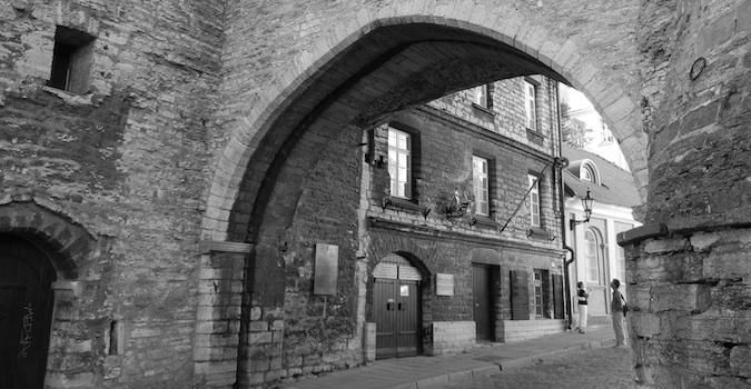 archway in Tallinn, Estonia