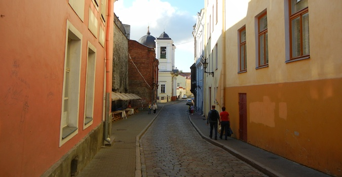 street in Tallinn, Estonia