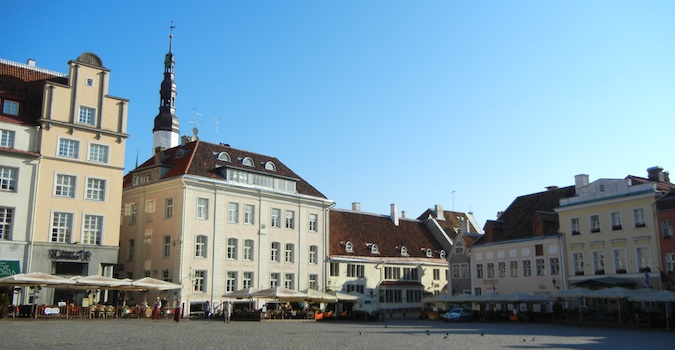 town square in Tallinn, Estonia