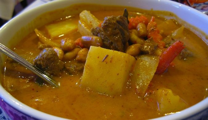 yellow Thai stew Massaman Curry