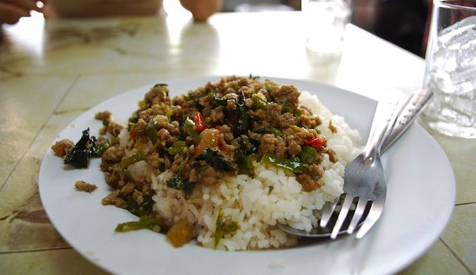 delicious Pad Kra Pao for lunch