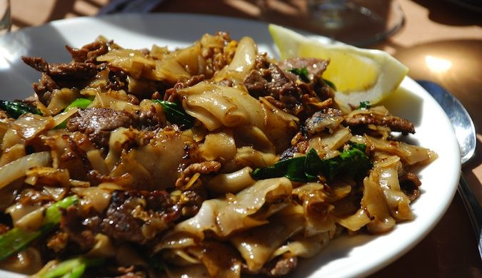Thailand's delicacy called Pad See Ew