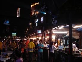 outdoor market in Thailand