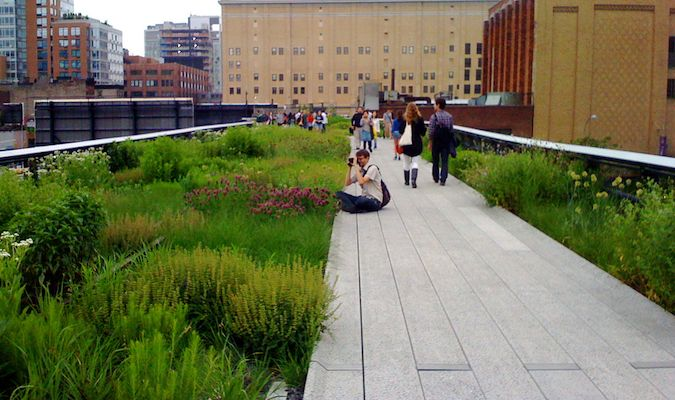 The Highline Park in the Meatpacking District is a great way to spend a beautiful day in NYC