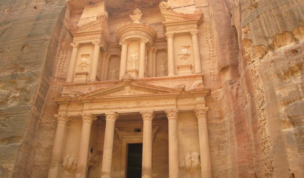 The ruins of Petra Jordan