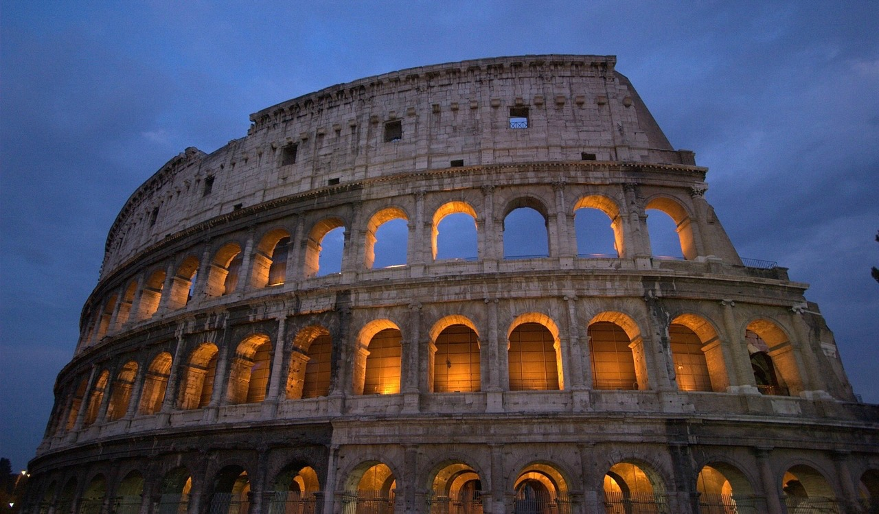 Roman Colosseum, Italy, gladiators, Caesar, Forum, Palatine Hill