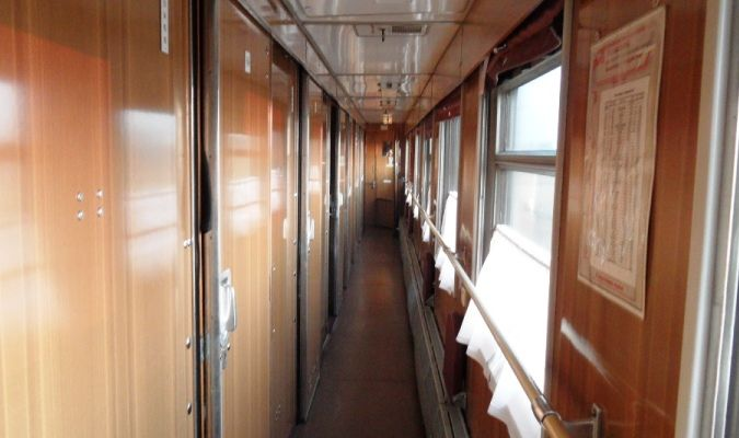 beds on the train along the trans-siberian railway