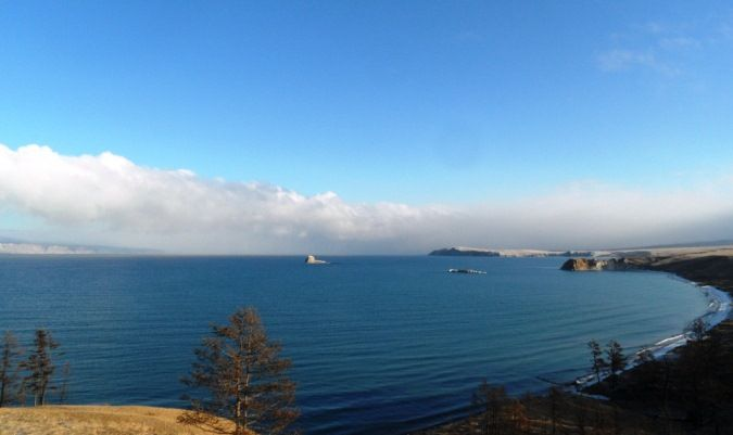amazing lake baikal outside of irkutsk, russia