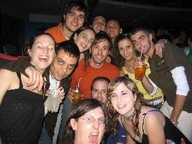 Travelers having fun in italy